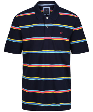 Men's Crew Clothing Heydon Stripe Polo Shirt - Heritage Navy