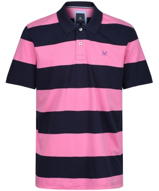 Men's Crew Clothing Waverney Jersey Polo Shirt - Navy / Carmine