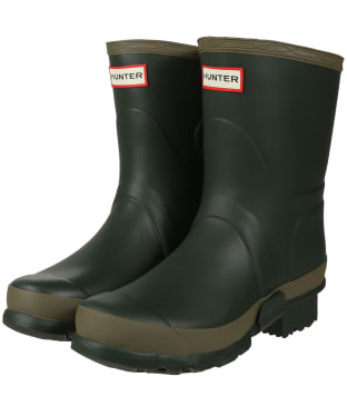 Women's Hunter Gardener Short Wellies - Dark Olive / Clay
