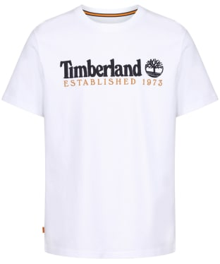 Men's Timberland Outdoor Heritage Linear Logo Tee - White