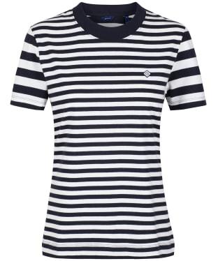 Women's GANT Striped T-Shirt - Evening Blue