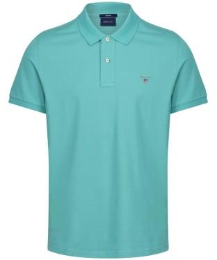 Men's GANT the Original Pique Rugger Polo Shirt - Green Lagoon