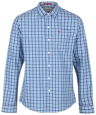 Men's Musto Riviera Long Sleeve Shirt - Ford Blue Check