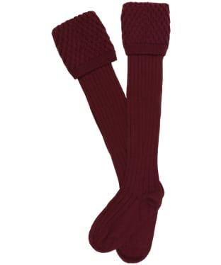 Pennine Chelsea Socks - Burgundy