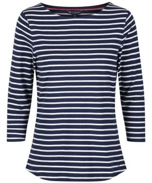 Women's Crew Clothing Essential Breton Top - Navy / White