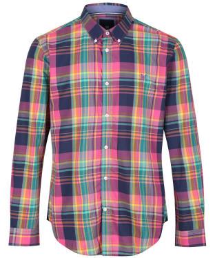 Men's Crew Clothing Harperrs LS Slim Madras Shirt - Multi