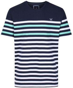 Men's Crew Clothing Wandle Stripe Tee - Optic Stripe