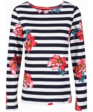 Women's Joules Harbour Print Top - Cream