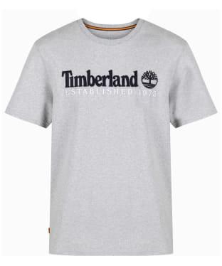 Men's Timberland Outdoor Heritage Linear Logo Tee - Grey Heather