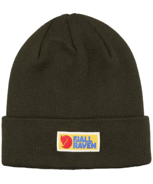 Men's Fjallraven Vardag Classic Beanie Hat - Deep Forest