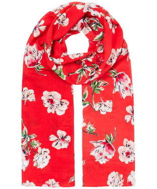 Women's Joules Conway Scarf - Red Floral