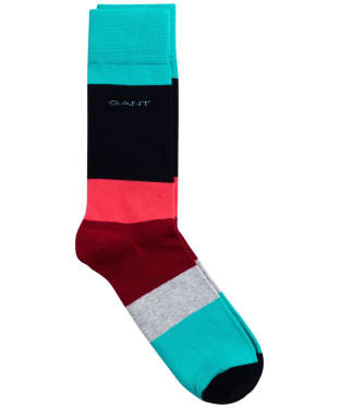 Men's GANT Colour Block Socks - Winter Wine