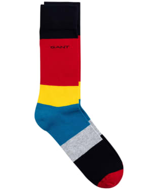 Men's GANT Colour Block Socks - Dark Teal