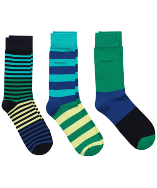 Men's GANT Striped Socks Giftbox - Lush Green