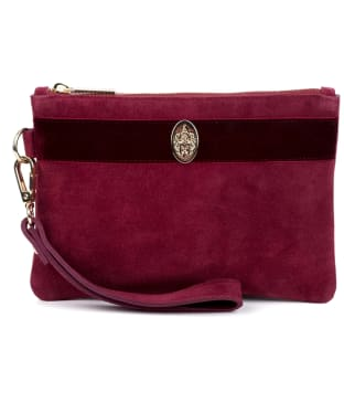 Women's Hicks & Brown Chelsworth Clutch Bag - Maroon