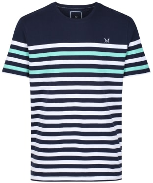 Men's Crew Clothing Wandle Stripe Tee - Optic Stripe