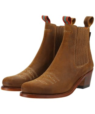Women's Penelope Chilvers Salva Oiled Suede Boots - Tan