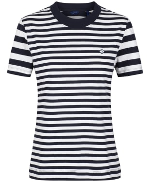 Women's GANT Striped T-Shirt - Evening Blue