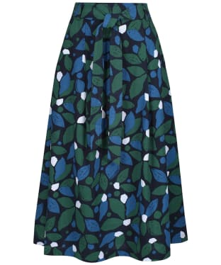 Women's Seasalt Far Wave Skirt - Collaged Leaves Dark Forage