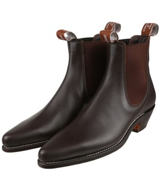 Women's R.M. Williams Millicent Boots - Yearling leather, leather sole - Chestnut
