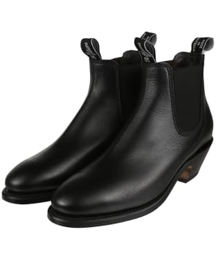 Women's R.M. Williams Adelaide Boots - Yearling leather, leather sole - Black