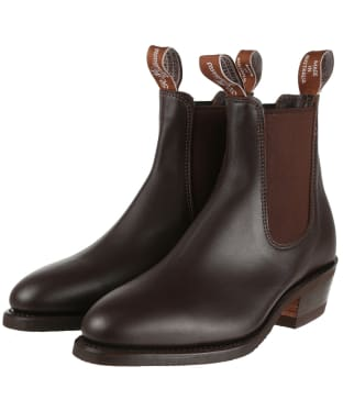 Women's R.M. Williams Yearling Boots - Yearling leather, leather sole - Chestnut