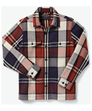 Men's Filson Deer Island Jac-Shirt - Rust / Navy / Cream