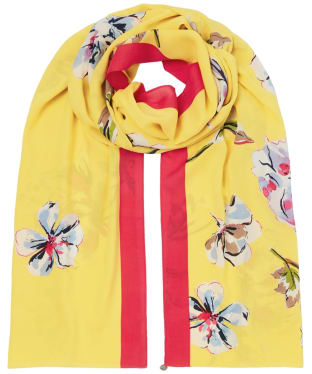 Women's Joules Conway Scarf - Yellow Floral