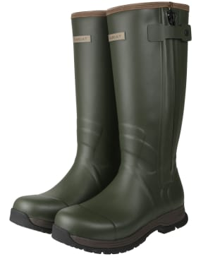 Men's Ariat Burford Insulated Zip Wellington Boots - Olive Night