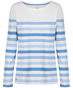 Women's Joules Harbour Long Sleeve Top - Cream Stripe