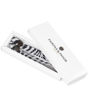Women's Fairfax & Favor Boot Tassels - Zebra Haircalf