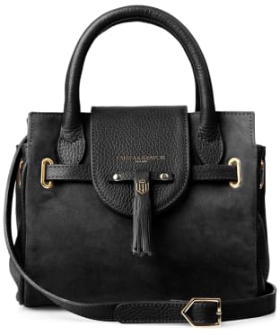 Women's Fairfax & Favor Mini Windsor Handbag - Black Suede