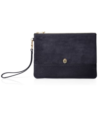 Women's Fairfax & Favor Highbury Clutch Bag - Navy Suede