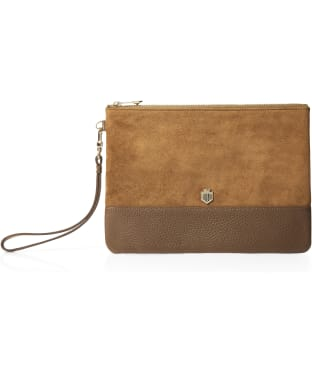 Women's Fairfax & Favor Highbury Clutch Bag - Tan Suede