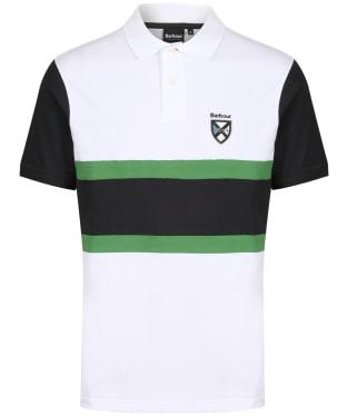 Men's Barbour Crest Contrast Polo Shirt - White