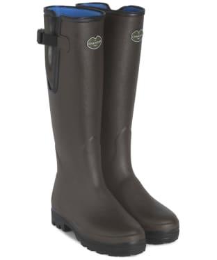 Women's Le Chameau Vierzonord Neo Wellington Boots - Marron Fonce