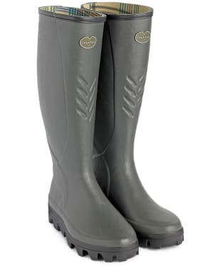 Men's Le Chameau Ceres Jersey Lined Wellingtons - Vert Bronze