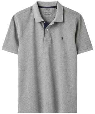 Men's Joules Classic Woody Polo Shirt - Grey Marl