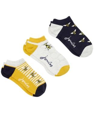 Women's Joules Rilla Trainer Socks – 3 Pack - Multi Bee