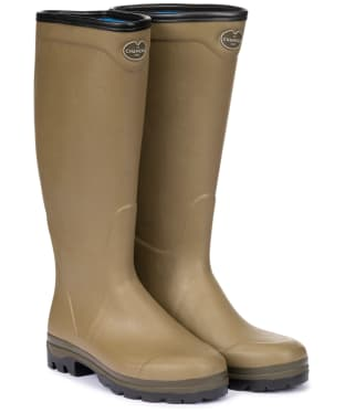 Men's Le Chameau Country Cross Neoprene Homme Wellington Boots - Vert Vierzon