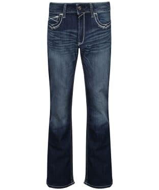 Women's Ariat R.E.A.L. Mid Rise Boot Cut Jean - Marine