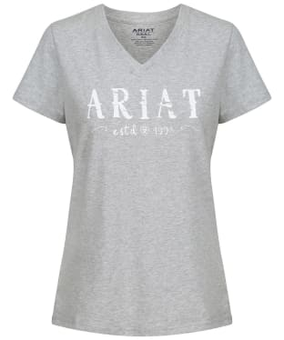 Women's Ariat R.E.A.L. Logo Tee - Heather Grey