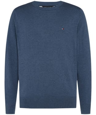 Men's Tommy Hilfiger Cotton Blend Crew Neck Sweater - Faded Indigo Heather