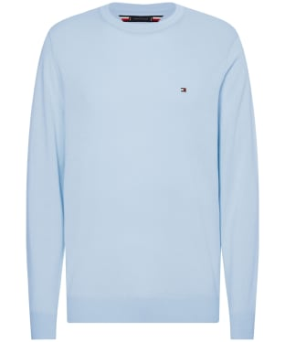 Men's Tommy Hilfiger Cotton Blend Crew Neck Sweater - Sweet Blue