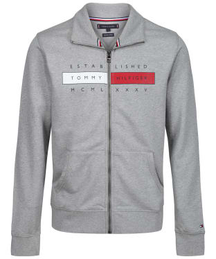 Men's Tommy Hilfiger Global Hilfiger Zip Through Sweater - Grey Heather