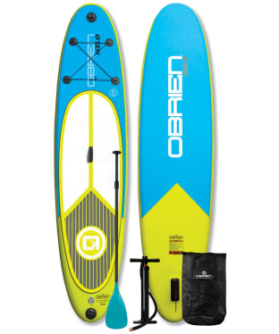O'Brien Hilo Inflatable Stand up Paddle Board Package - Blue / Yellow