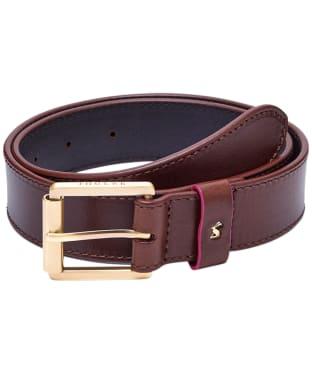 Women's Joules Thurstow Leather Belt - Tan
