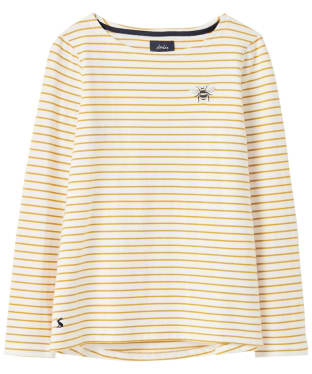 Women's Joules Harbour Print Top - Cream Gold Stripe