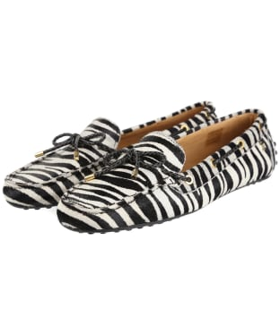 Women's Fairfax & Favor Henley Driving Shoes - Zebra Haircalf