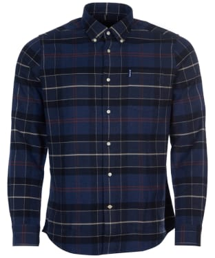 Men's Barbour Lustleigh Shirt - Navy Marl Tartan 2